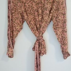 Free People long sleeve blouse, small